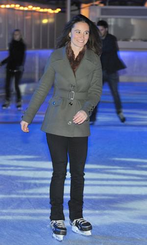 Even Pippa Middleton skates at Somerset House. (Photo by Nick Harvey/WireImage)