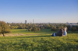 Primrose Hill is legendary for its views of London. (Photo by Pawel Libera/Visit London)
