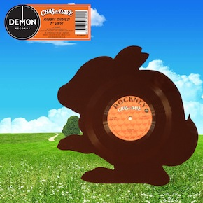 Chas and Dave are releasing a rabbit-shaped vinyl version of the classic cockney rock (or 'rockney') ditty 'Rabbit' for Record Store Day. (Image courtesy of Demon Music Group)