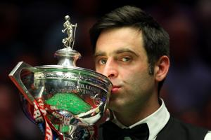 Starting April 20, Ronnie O'Sullivan will defend his title at the World Snooker Championship at Crucible Theatre in Sheffield, England. (Photo by Gareth Copley/Getty Images)