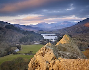 Mount Snowdon and the landscape of Snowdonia National Park from the Pinnacles and Capel Curig. (Photo by Joe Cornish/Visit Britain)