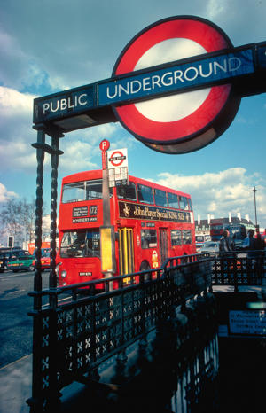 Tube stations come in many forms, such as this traditional one near Westminster. (Photo by Britain on View/Visit Britain)