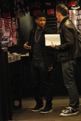 Many musicians appreciate the UK's record stores: Usher shopped at Sister Ray in London before a performance last year. (Photo by Neil Mockford/FilmMagic)