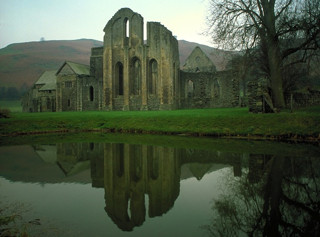 Glowing figures, mysterious lights and uncanny voices have been reported at the ruins of Valle Crucis Abbey in Llangollen, Wales. (Photo by Britain on View/Visit Britain)