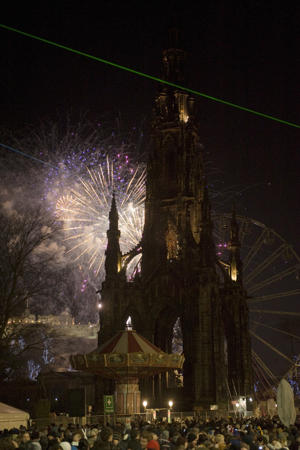 In Edinburgh, the night ends with a giant fireworks display in the historic city center. (Photo by Gareth Easton/VisitBritain)