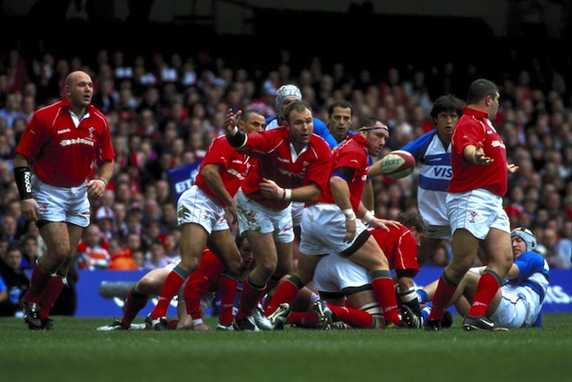 Rugby action during a Wales vs. Argentina game (Photo by Andrew Orchard/VisitBritain)