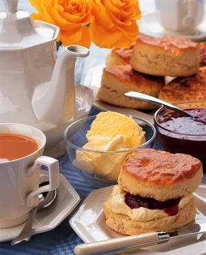 Scones and jams are often part of the afternoon tea menu. (Photo by Britain on View/Visit Britain)