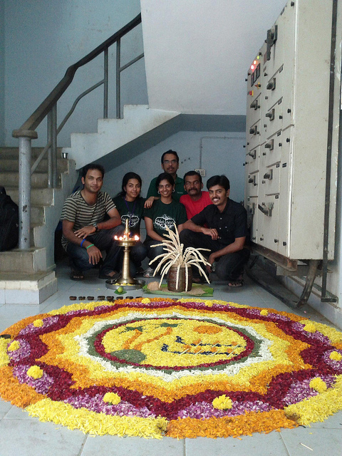 HackU Crew at the Onam celebrations