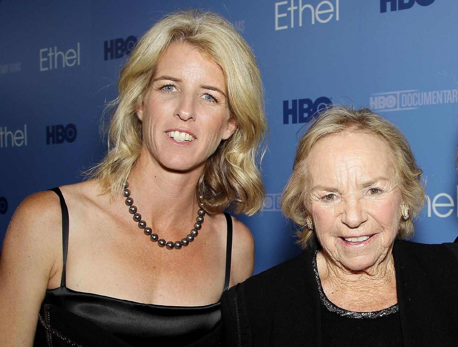 "Rory and Ethel Kennedy at the ""Ethel"" premiere, October 15, 2012"