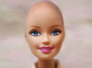 Barbie going bald for charity