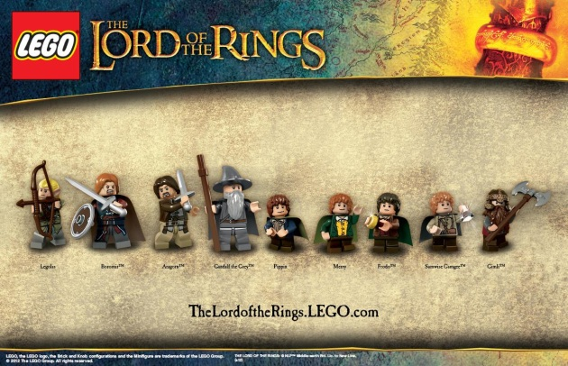 Lego unveils 'Lord of the Rings' minifigs