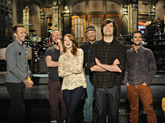 Emma Stone, Bill Hader, and Coldplay (NBC)