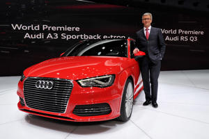 Audi readies a plug-in hybrid for America, and a way to time traffic lights