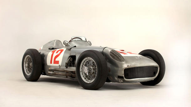 Fangio's Grand Prix-winning Mercedes sells for a record $29.6 million