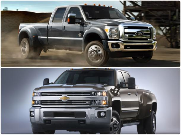 Chevy, Ford renew pickup battle with updated heavy-duty trucks