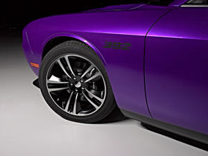 "The Dodge Challenger SRT8 in ""plum crazy"" purple"