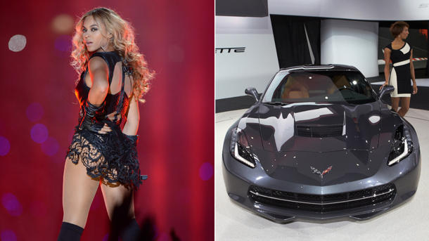 2014 Chevy Corvette cut from Beyoncé's Super Bowl halftime show
