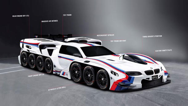 BMW makes 4-year old's dream come true by designing a 19-engined race car