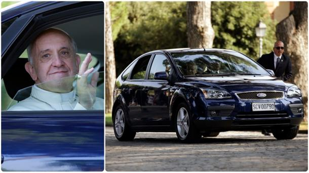 Pope Francis chooses five-year-old Ford Focus as Popemobile of choice