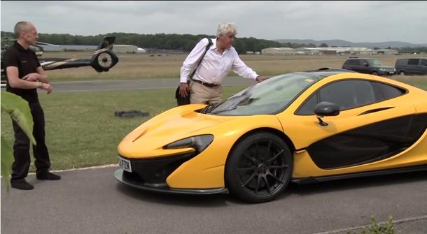 Jay Leno drives the McLaren P1 on track — and buys the first one