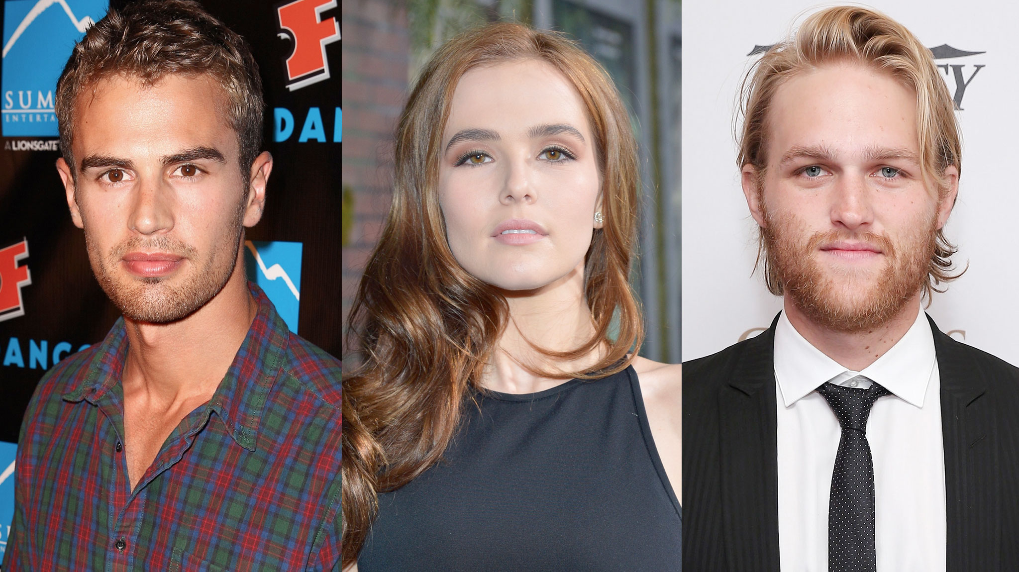 Theo James, Zoey Deutch and Wyatt Russell (Photos: Getty Images)