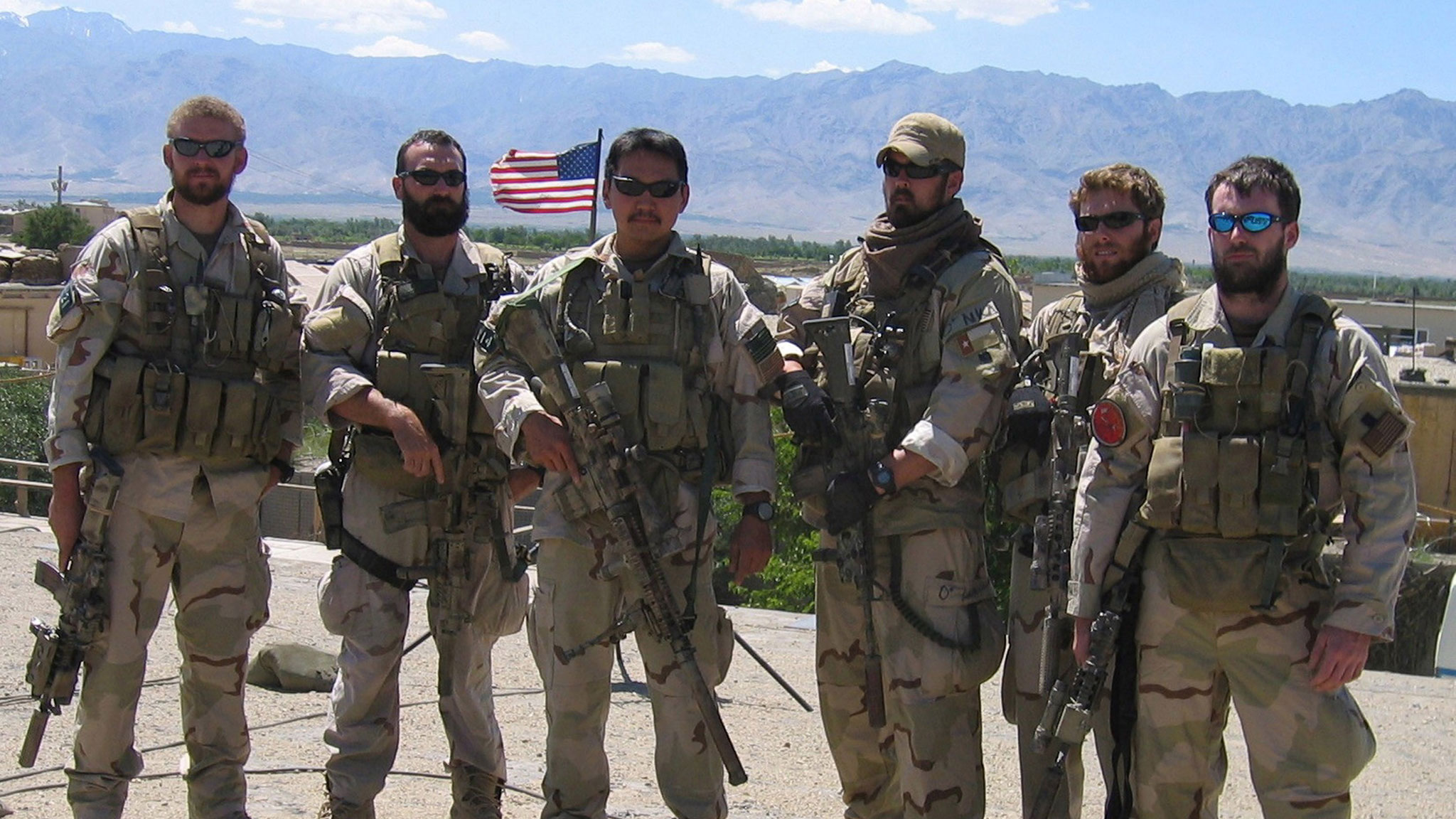 The SEALs of Operation Red Wings (Marcus Luttrell is 3rd from the right) (Photo: US Navy/Getty)