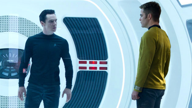 Benedict Cumberbatch as John Harrison and Chris Pine as Captain Kirk (Photo: Paramount)