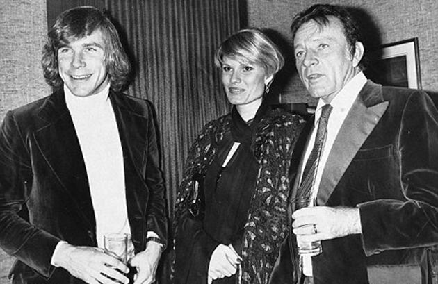 Caught between two men: James Hunt, Suzy Miller, and Richard Burton in 1976 (Photo: Solo Syndication)