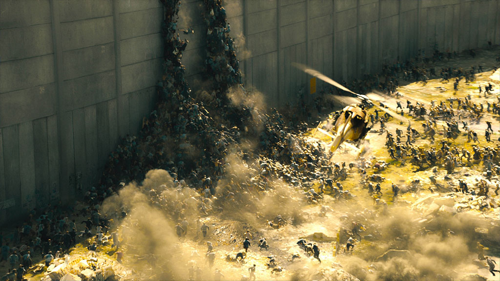 Zombies swarming like ants in Paramount Pictures' 'World War Z'.