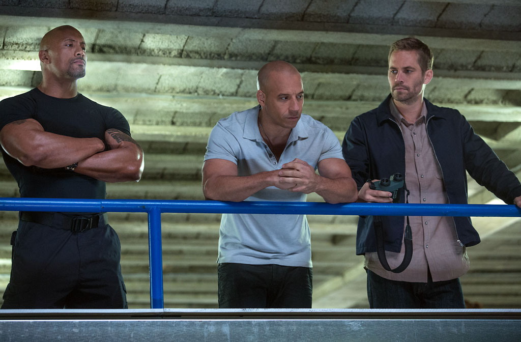 Dwayne Johnson, Vin Diesel and Paul Walker in 'Fast & Furious 6' (Photo: Universal Pictures)