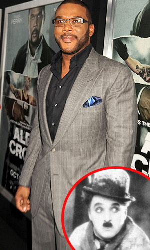 Tyler Perry and Charlie Chaplin share similar life stories (Photo: WireImage/Getty Images)