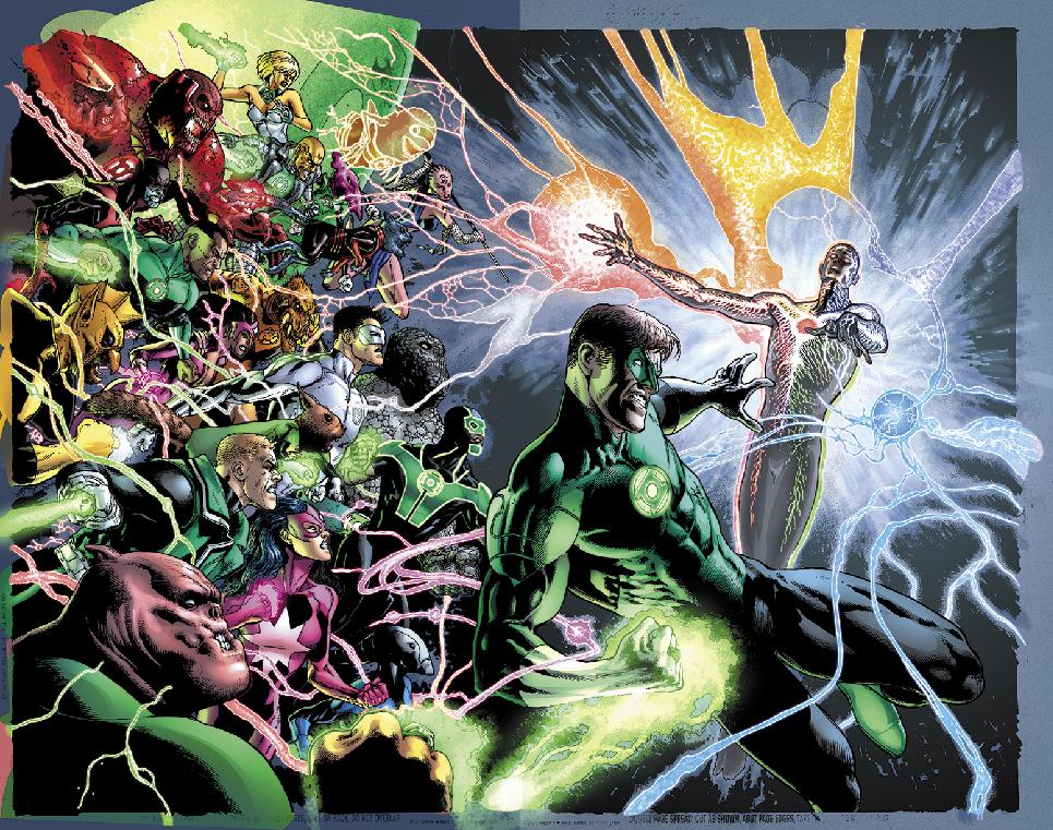 Illustration for the cover of 'Green Lantern' No. 20, due out in May (Photo: Associated Press/DC Entertainment)
