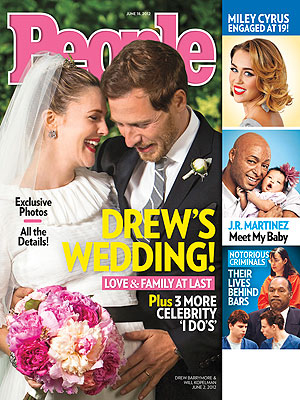 Barrymore and Kopelman on the cover of People