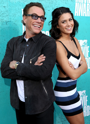 Van Damme and his daughter Biance Bree (Frazer Harrison/Getty Images)