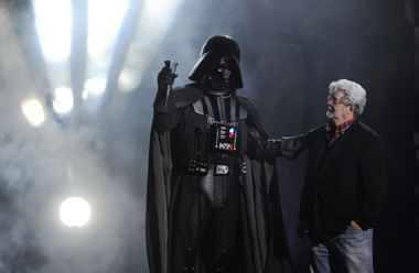 George Lucas, right, and Darth Vader (Photo: AP/Chris Pizzello, File)