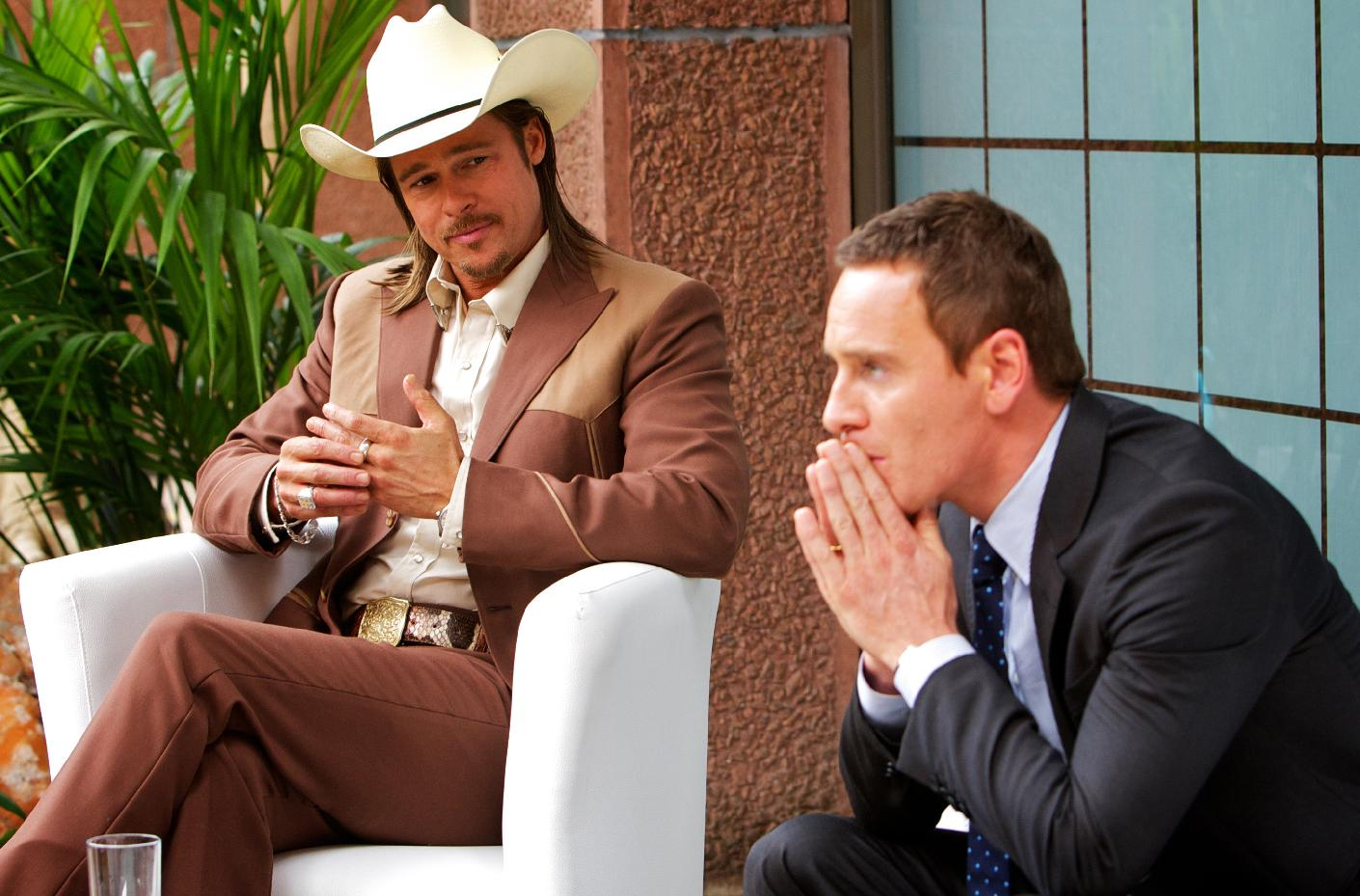 Brad Pitt and Michael Fassbender in 'The Counselor' (Photo: 20th Century Fox)