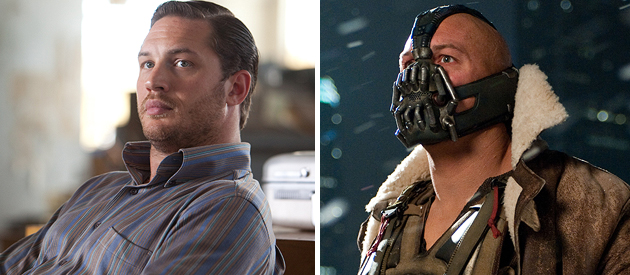 Tom Hardy in 'Inception' and 'The Dark Knight Rises' (Photo: Warner Bros. Pictures)