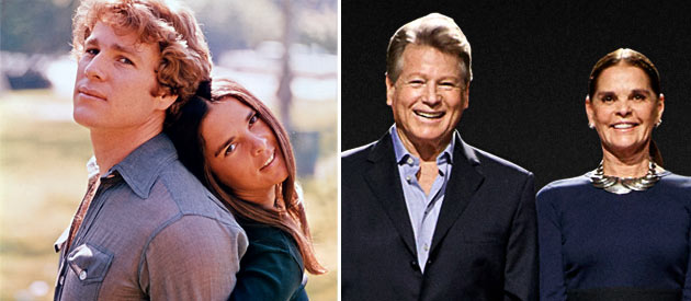 Ryan O'Neal and Ali MacGraw - Then & Now (Photo: Paramount Pictures/MPTVImages.com)