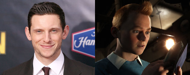 Jamie Bell and Tintin (Photo: Jim Spellman/WireImage, Paramount Pictures)