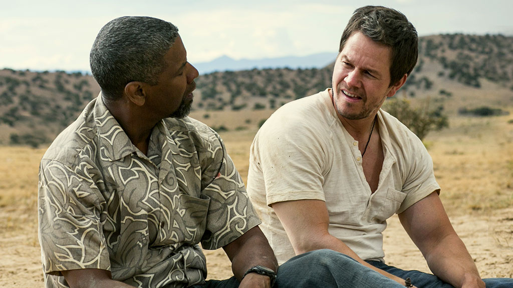 Denzel Washington & Mark Wahlberg in Universal Pictures' '2 Guns'.