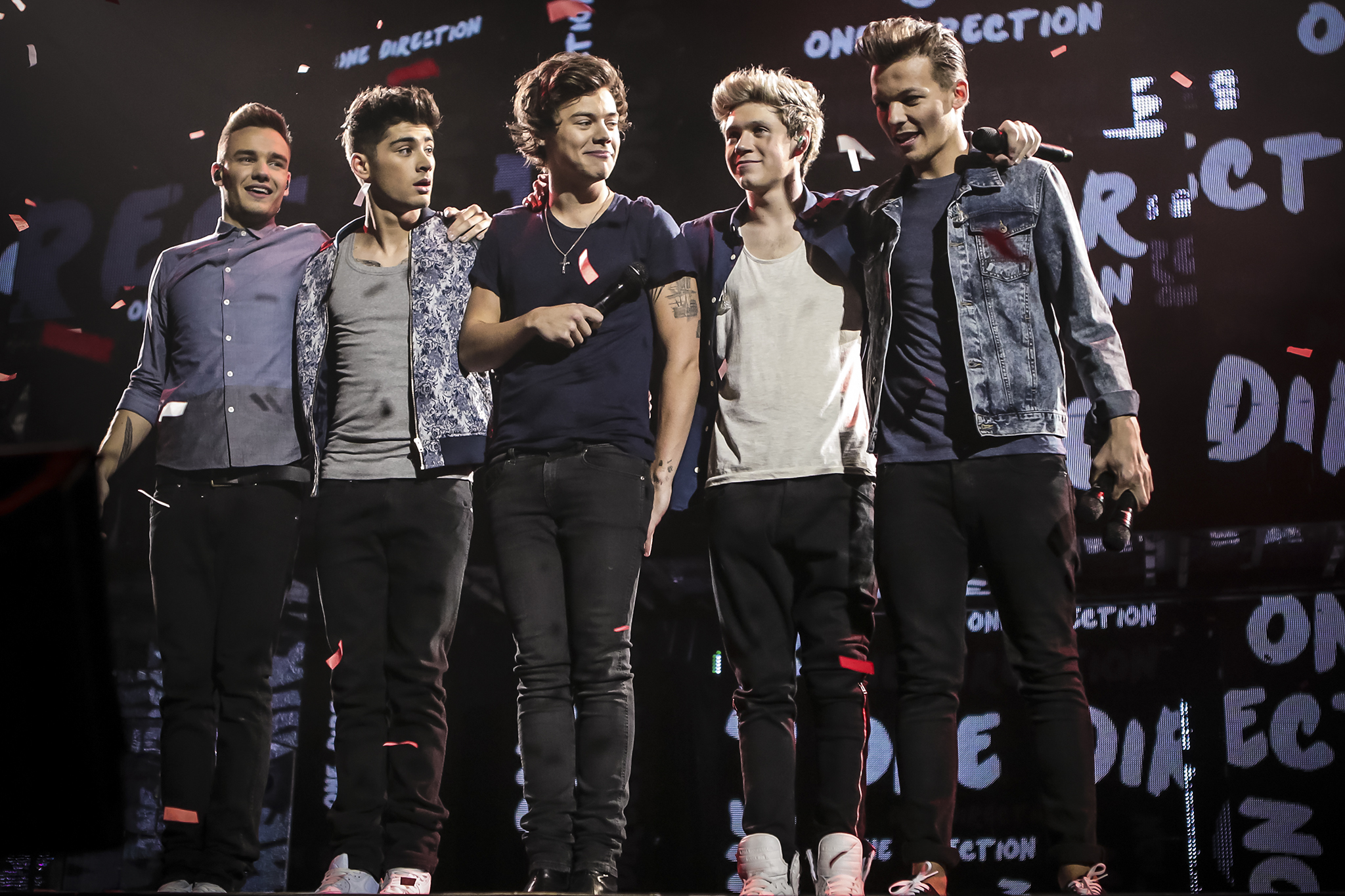 Liam Payne, Zayn Malik, Harry Styles, Niall Horan and Louis Tomlinson in TriStar Pictures'