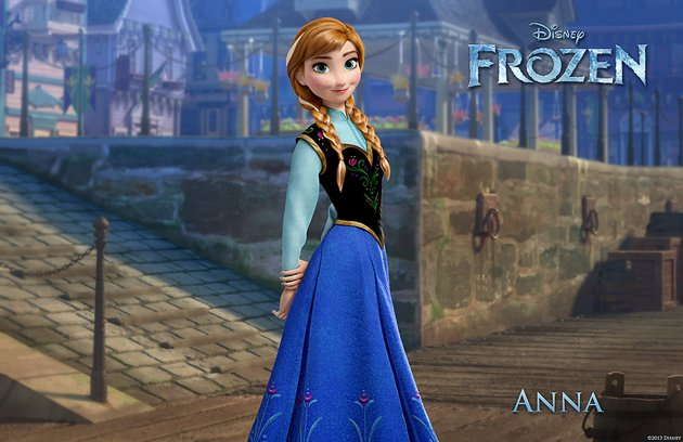 Anna (Kristen Bell), the star of Disney's 'Frozen'.