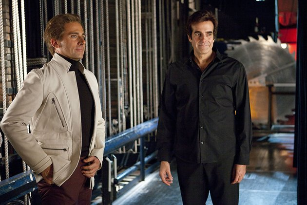 Steve Carell and David Copperfield in 'The Incredible Burt Wonderstone' (Photo: Warner Bros.)