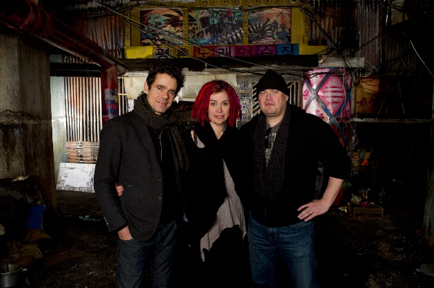 L-R: Tom Twyker, Lana & Andy Wachowski of 'Cloud Atlas'.