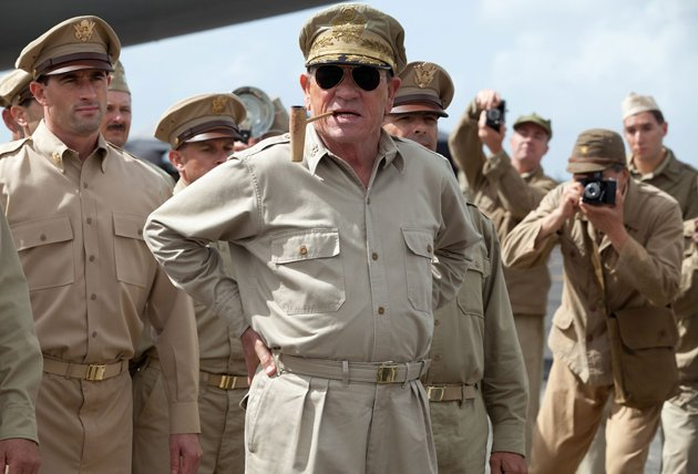 Tommy Lee Jones as General Douglas MacArthur in Lionsgate's 'Emperor'