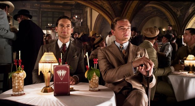 Tobey Maguire, left, and Leonardo DiCaprio in 'The Great Gatsby' (Photo: Warner Bros. Pictures)