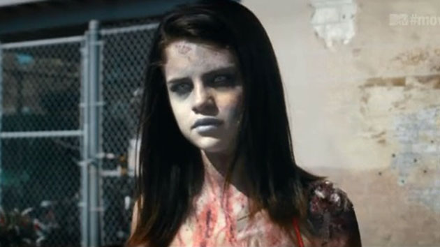 Selena Gomez, zombie-fied (Photo: MTV)