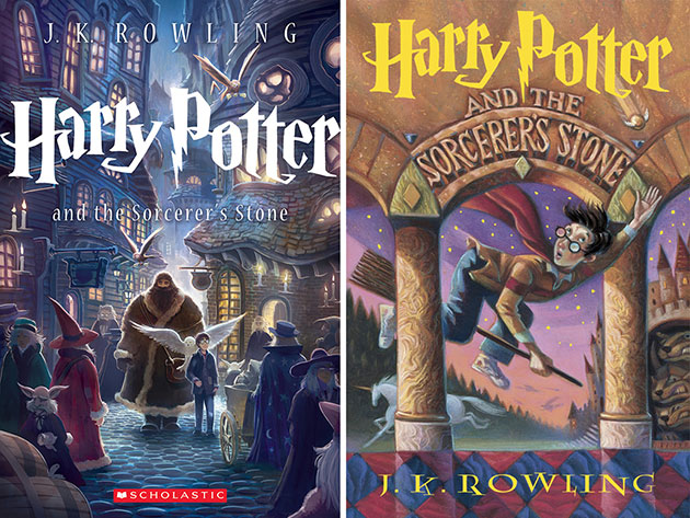 The new 'Sorcerer's Stone' cover, left, and the original (Photo: Scholastic)
