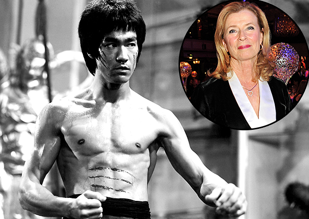 Linda Lee Cadwell remembers her late husband Bruce Lee, seen left in 'Enter the Dragon,' 1973 (Everett/Getty)