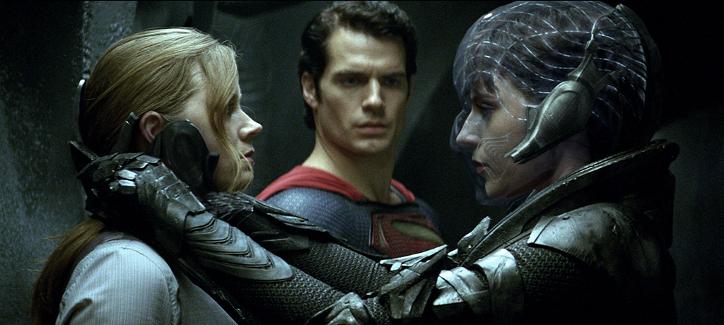 Amy Adams, Henry Cavill and Antje Traue in Warner Bros. Pictures' 'Man of Steel'